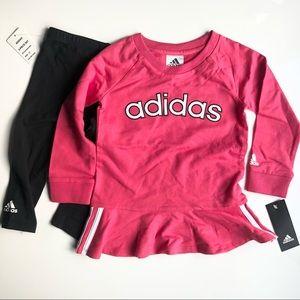 NEW Adidas Baby Toddler matching shirt & leggings